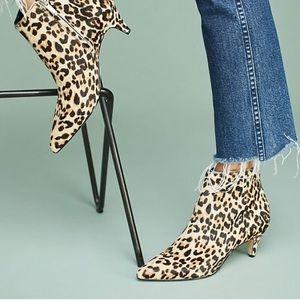Sam Edelman Kinzey Kitten Heel Bootie Sand Leopard
